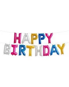 Happy Birthday värikäs