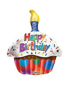 Kuppikakku Happy Birthday foliopallo