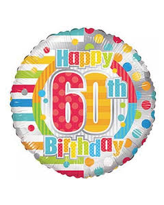 Foliopallo Happy 60th Birthday