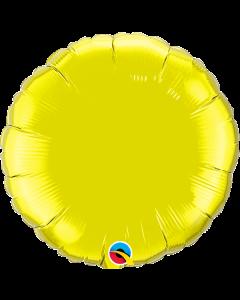 """Foliopallo pyöreä keltainen 18""""  f"""