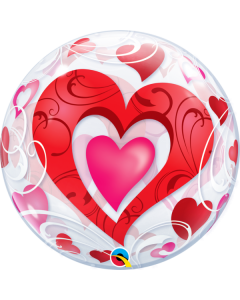 """Bubble Red Hearts  22"""""""