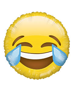 Foliopallo 45 cm, pyöreä, Emoji LOL
