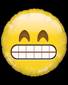 Foliopallo 45 cm, pyöreä, Emoji Grinning Smile