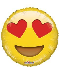 Foliopallo 45 cm, pyöreä, Emoji Love
