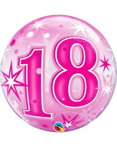 "Bubble 18 Pink Starburst Sparkle  22"""