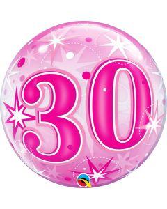 "Bubble 30 Pink Starburst Sparkle  22"""