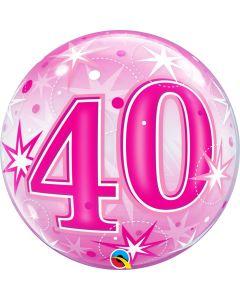 "Bubble 40 Pink Starburst Sparkle  22"""