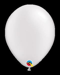 """Qualatex, 11"""" kumipallo, helmiäisväri valkoinen 25 kpl"""
