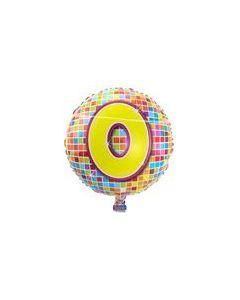 Pyöreä 0 numerofoliopallo