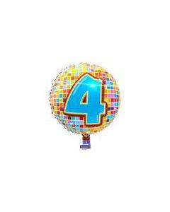 Pyöreä 4 numerofoliopallo