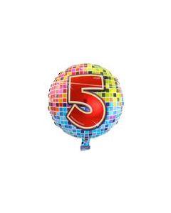 Pyöreä 5 numerofoliopallo