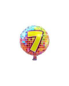 Pyöreä 7 numerofoliopallo