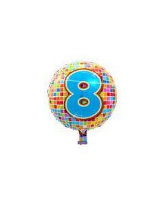 Pyöreä 8 numerofoliopallo