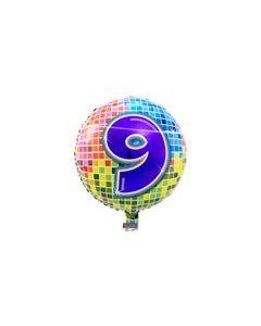 Pyöreä 9 numerofoliopallo