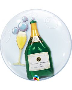 Bubbles Double Bubble Bubbly Wine&Glass