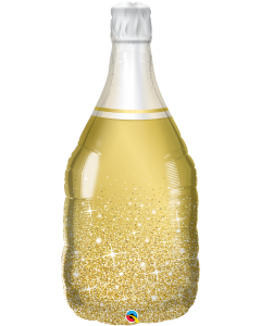 Golden Bubbly Wine Bottle muotofolio