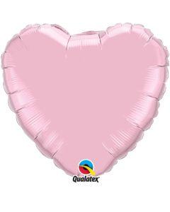 Sydänfoliopallo rosa