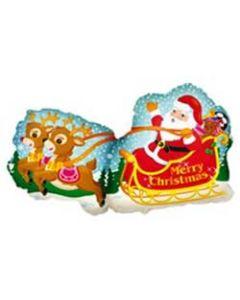 Muotofoliopallo Joulupukin reessä