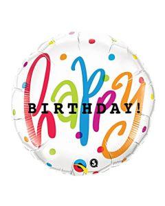 """Happy Birthday Dots foliopallo 18"""""""