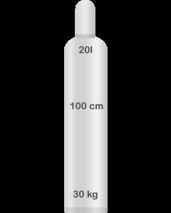 Heliumkaasu 20 L, palvelupistenouto (4m3)