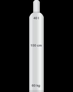 Heliumkaasu 40 L, palvelupistenouto (8m3)