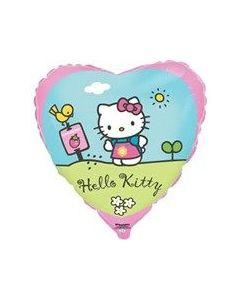Foliopallo, sydän 45cm, Hello Kitty pihalla