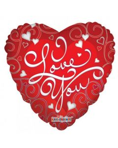 "Foliopallo I Love You pun foliopallo (18"")"
