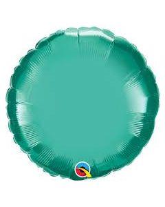 """Foliopallo pyöreä kromi vihreä 18"""""""