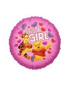 Foliopallo Nalle Puh It's a Girl