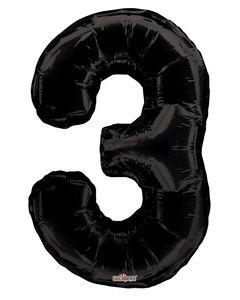 Iso Numero  3 musta