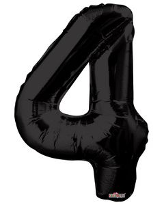 Iso Numero  4  musta