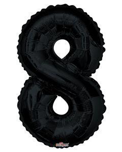 Iso numerofoliopallo numero 8, musta