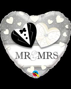 "Foliopallo Mr & Mrs Wedding 18"""