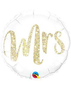 Mrs Glitter gold foliopallo