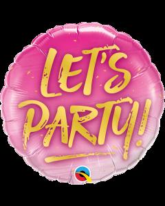 "Foliopallo 18"", pyöreä Qualatex Let´s Party"