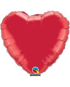 Sydänfoliopallo punainen