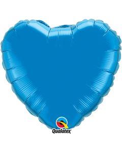 Sydänfoliopallo sininen