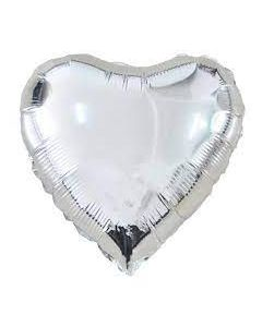 Sydänfoliopallo hopea