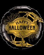 "Foliopallo Halloween Golden Skeleton 18"""