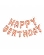 "Happy Birthday 16"" ruusukulta"